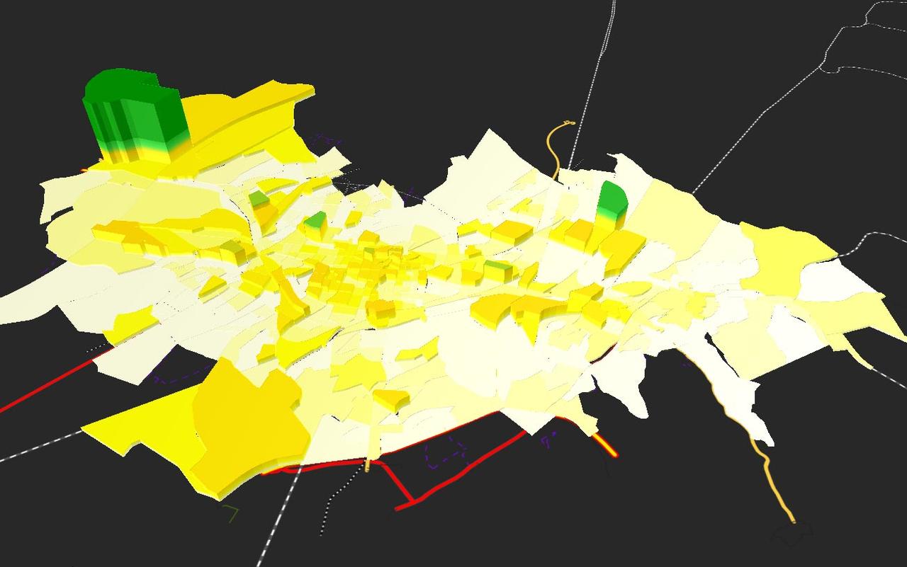 PTV-Visum_Transportation-Planning_Analyse-Zones-in-3D