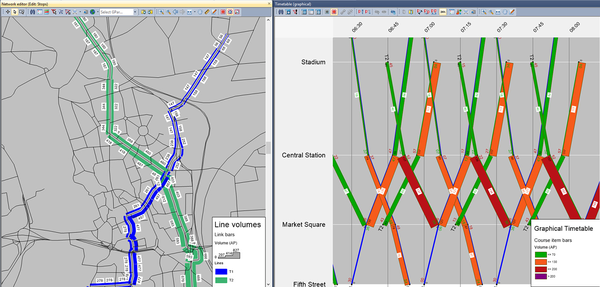 PTV-Visum_Public-transport-planning_Visualise-Traffic-volumes-in-3D