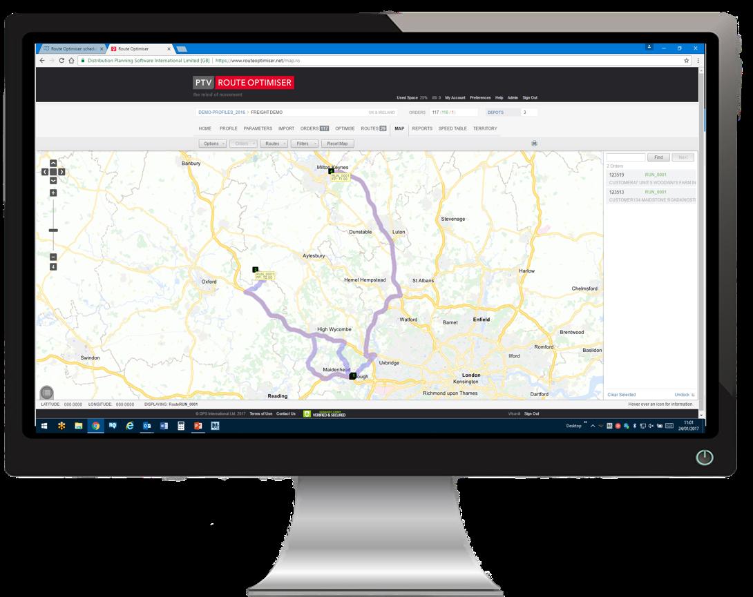 PTV Route Optimiser Cloud