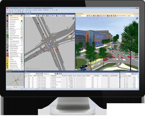 Version d'essai PTV Vissim - Le logiciel de simulation du trafic routier