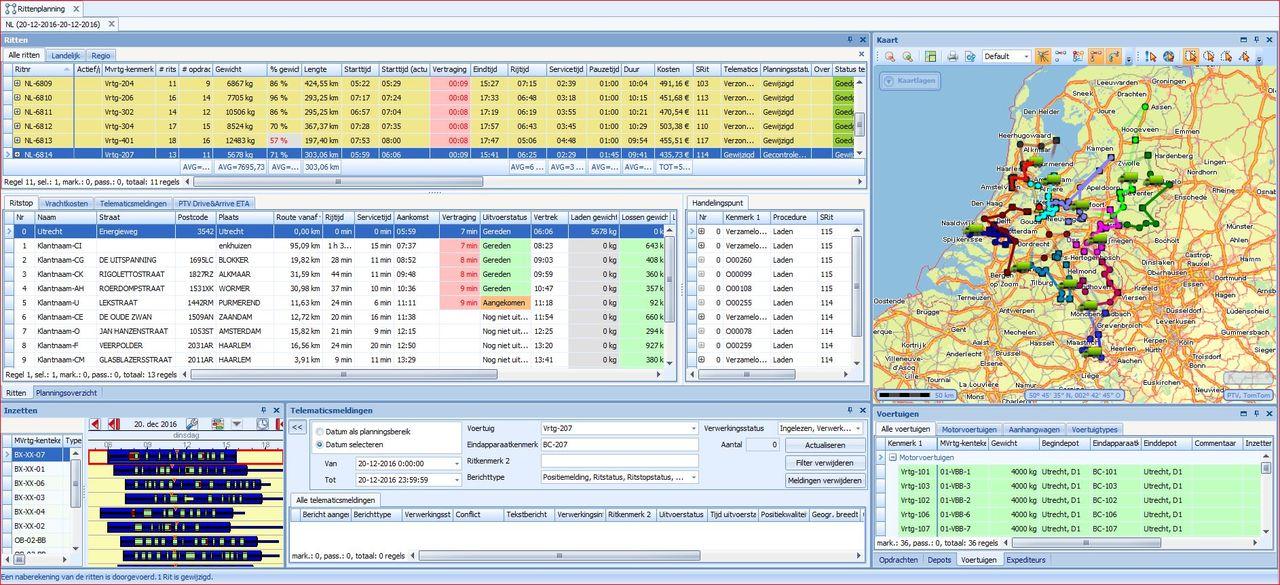 Ritplanningssysteem & ETA berekenen